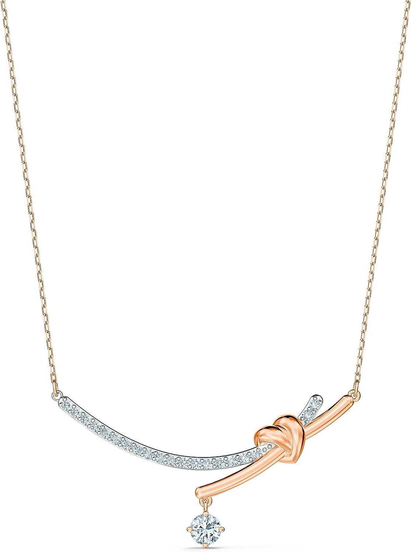 Swarovski Collar Lifelong Heart, blanco, combinación de acabados metálicos