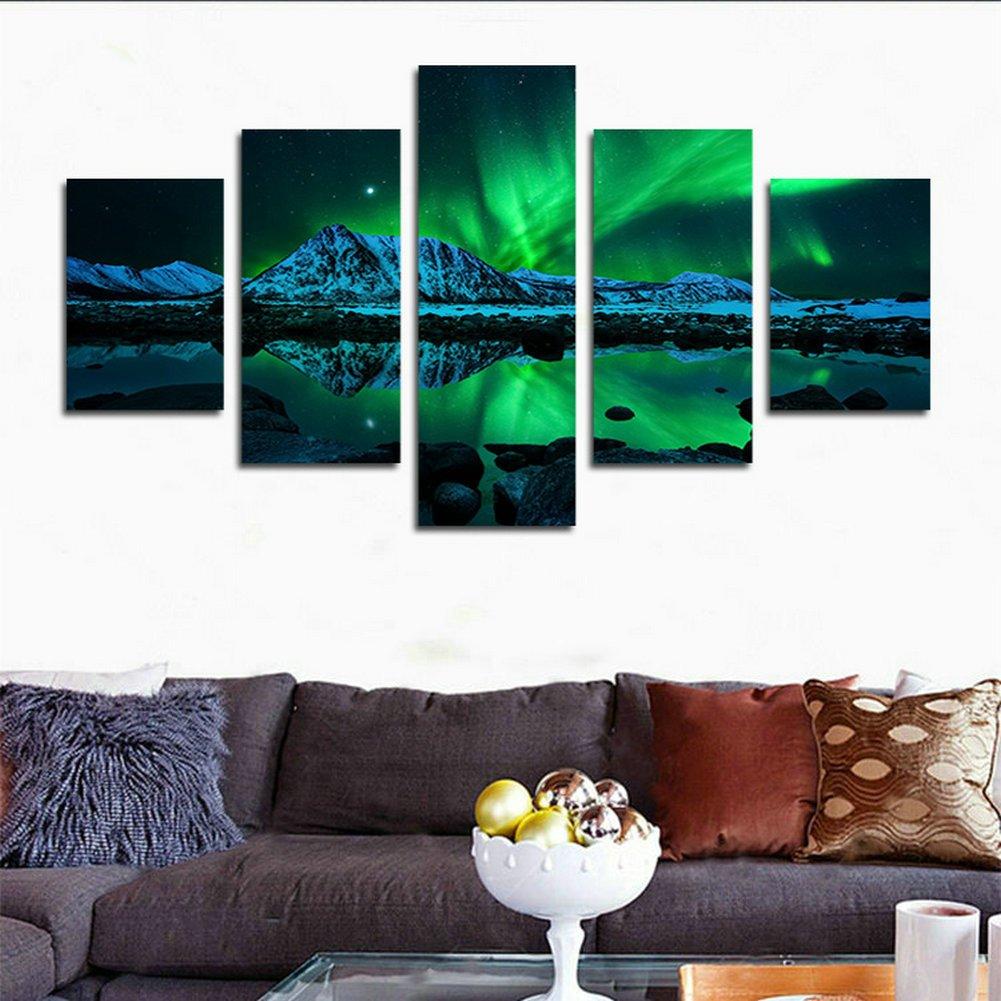 swmart 5 teilig HD Aurora Borealis Gedruckt Malerei auf Leinwand ...