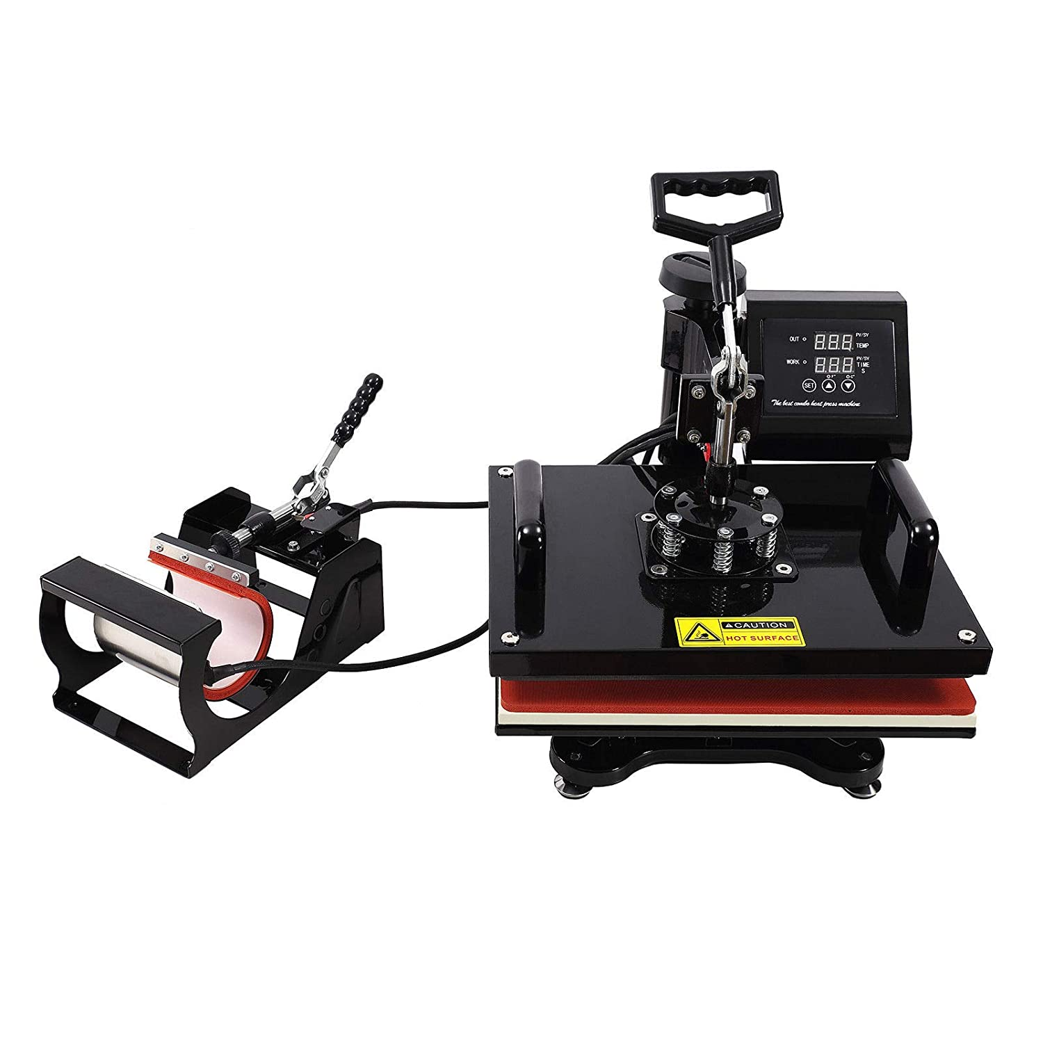 6 in 1 Heat Press Machine Sublimation T-shirt mug cap Plate 12