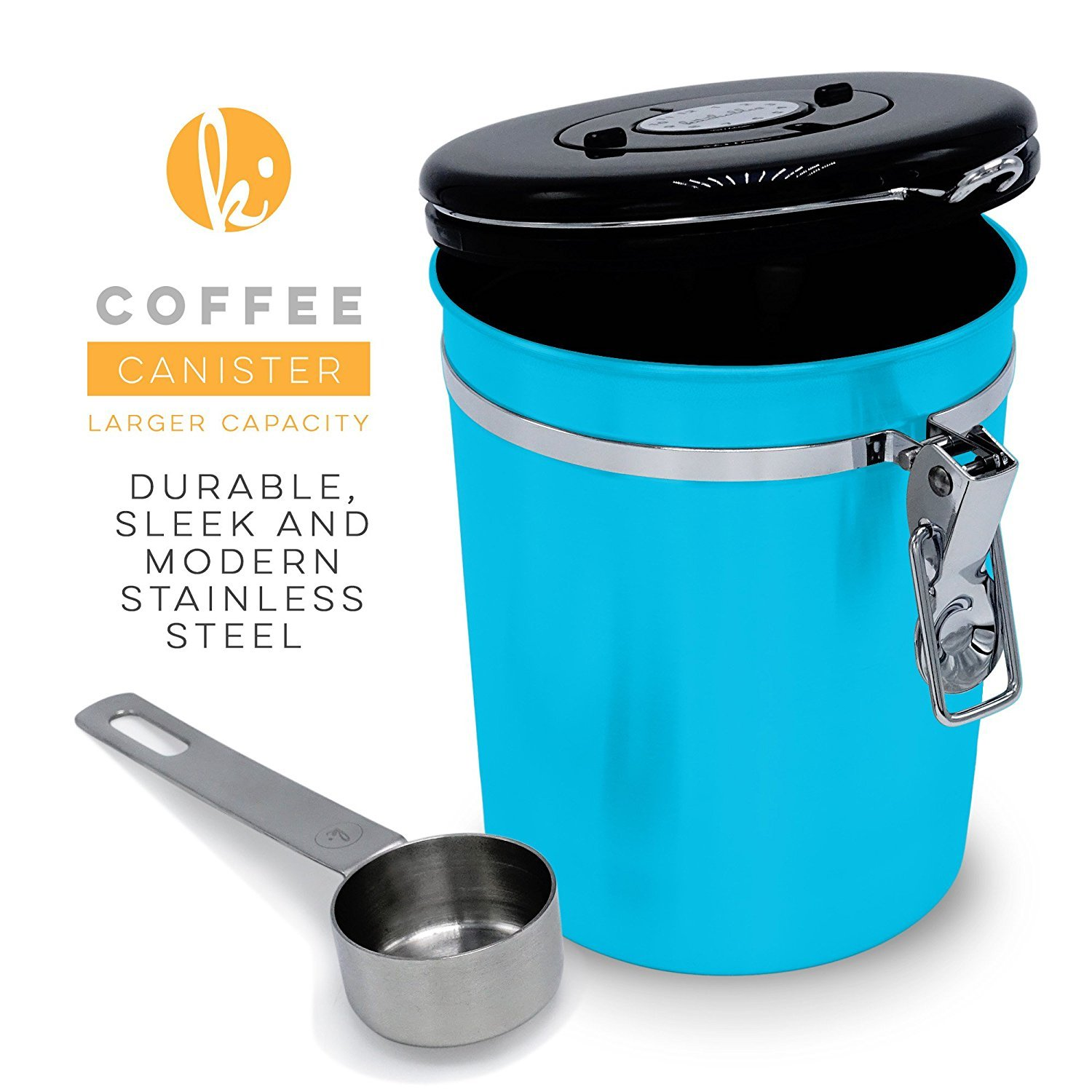 Amazon.com: Coffee Canister (Large) Airtight Seal Set with Scoop ...