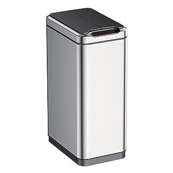 EKO 92775 1 Phantom Motion Sensor Touchless Stainless Steel Trash Can | 50  Liter