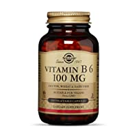 Solgar – Vitamin B6, 100 mg, 250 Vegetable Capsules