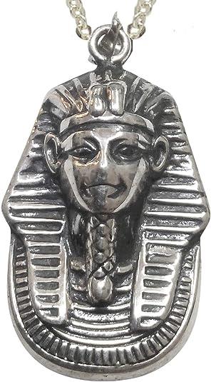 Sicuore Colgante Collar Faraon Tutankamon para Mujer Hombre - Plata De Ley 925 Incluye Cadena De Plata De 45cm Y Estuche para Regalo: Amazon.es: Joyería