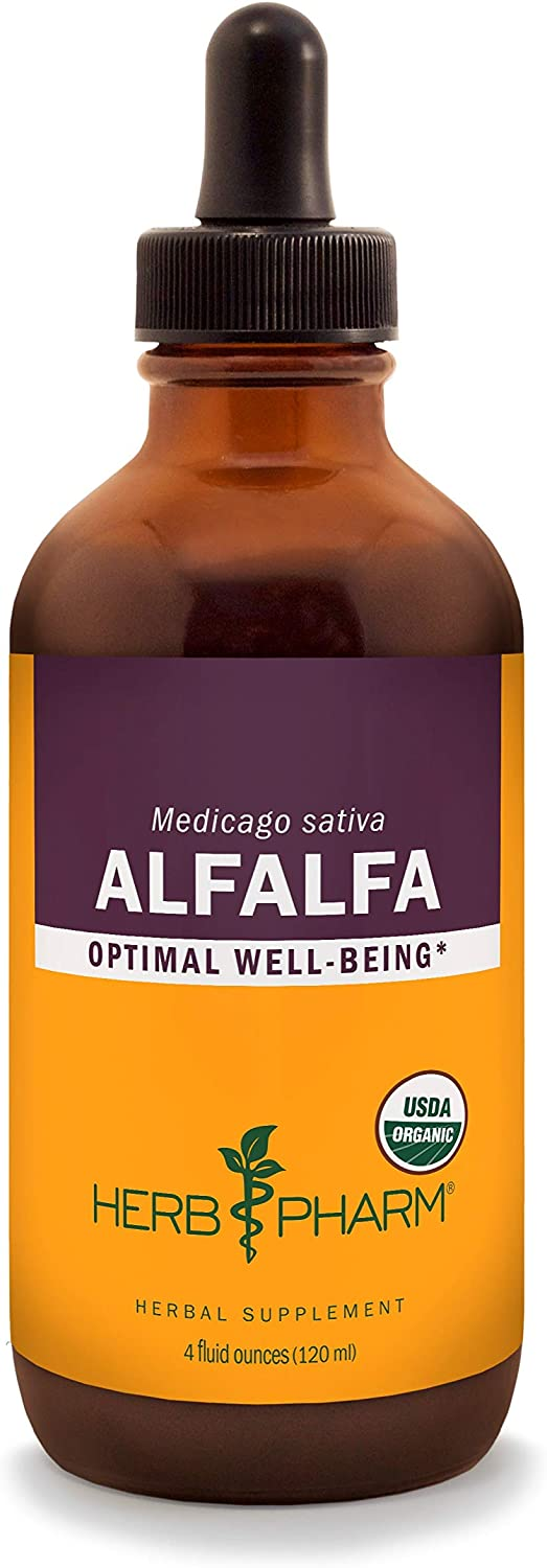 Herb Pharm Certified Organic Alfalfa Liquid Extract – 4 Ounce