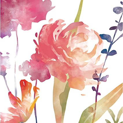Amazon cypress home boho watercolor floral paper luncheon cypress home boho watercolor floral paper luncheon napkins 20 count mightylinksfo