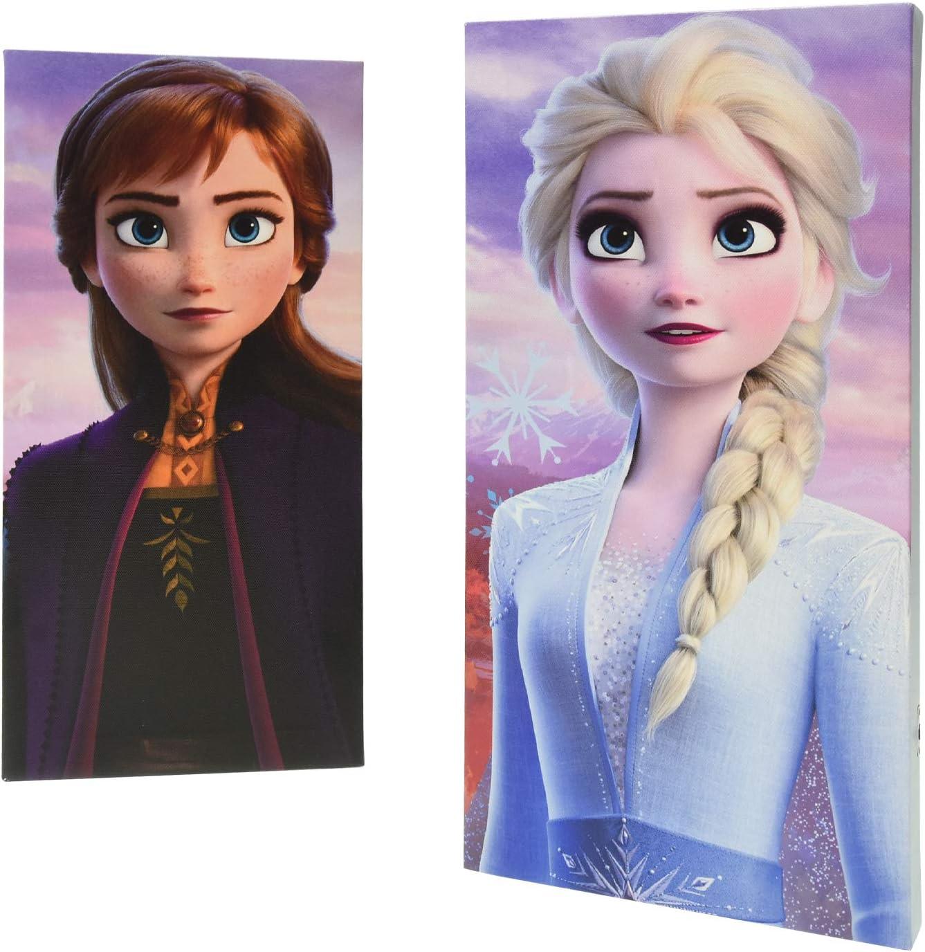 Disney Frozen 2 2Piece LED Canvas Wall Art Featuring Anna & Elsa, 7