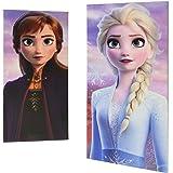 "Disney Frozen 2 2Piece LED Canvas Wall Art Featuring Anna & Elsa, 7"" W x 14"" H (Eachpiece), Multi"