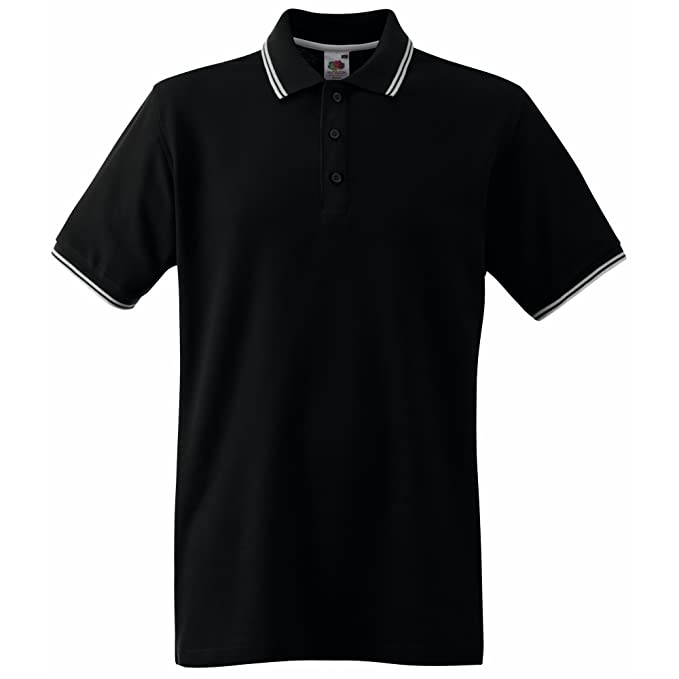 Fruit Of The Loom Mens Tipped Short Sleeve Polo Shirt at Amazon ... 2fce4094c4be