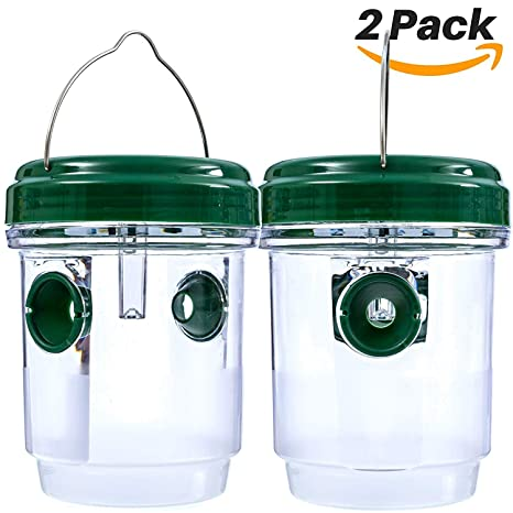 Mesigu 2 Pack Wasp Trap Catcher Solar Wasp Trap Chaqueta ...