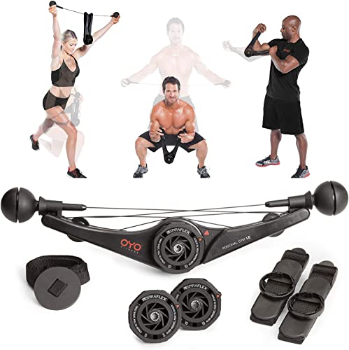 OYO Personal Gym – Full Body Portable Gym Equipment Set for Exercise at Home, Office or Travel – SpiraFlex Strength Training Fitness Technology – NASA Technology