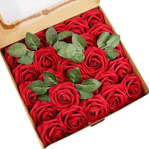 100 Hochzeit Deko Blumen Schaum Rosen Künstliche Blumen Rosenköpfe