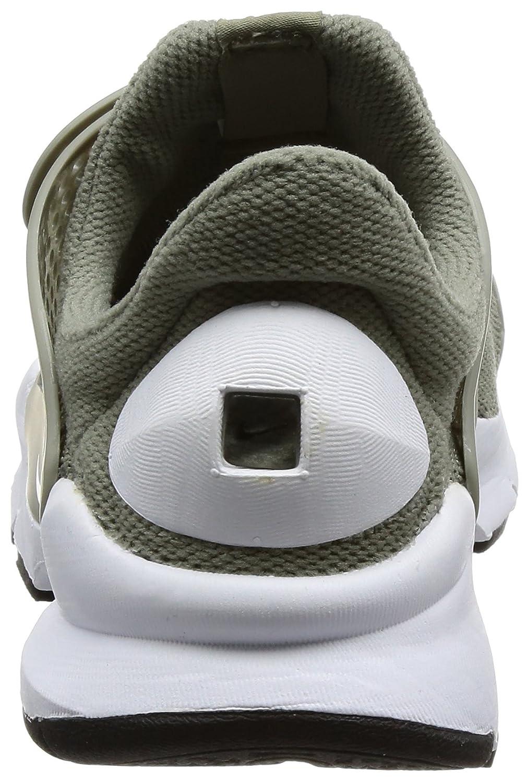 size 40 07132 aca02 Amazon.com   Nike Sock Dart Women s Running Shoes Dark Stucco White-Black  848475-005   Road Running