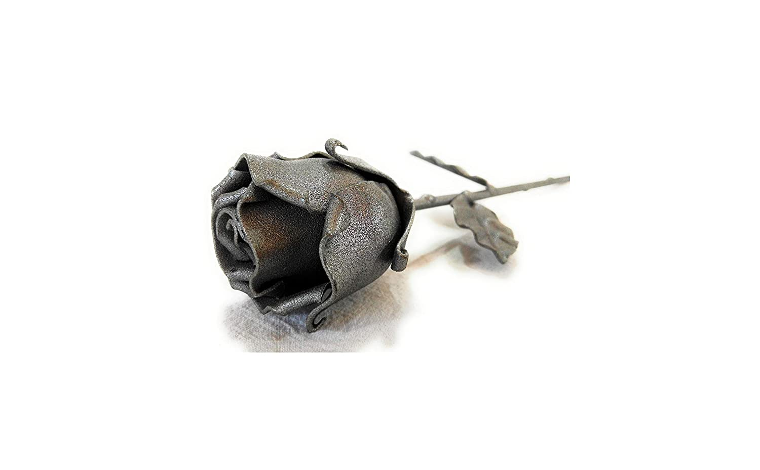 Eternal Rose Hand-Forged Wrought Iron Gray Ideal gift for Valentine's Day, Mother's Day, Couple, Birthday, Christmas, Wedding Day, Anniversary, Decor, Indoor/Outdoor Mother's Day
