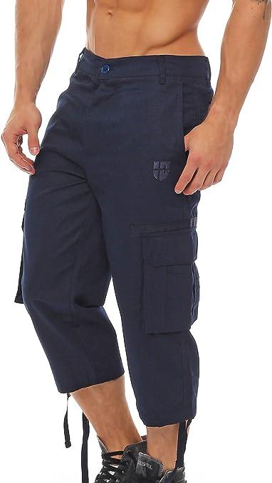 TALLA S. Gennadi Hoppe Pantalón Hombre Cargo 3/4 Capri