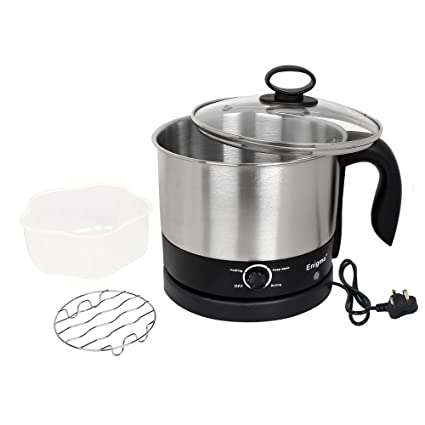 Enigma Multifunction (Tea, Coffee, Noodles, Curries Etc.) 1.2 Ltr Electric Kettle (Silver Black)
