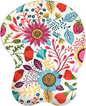 Latest Custom Non-Slip Design Datura LIEBIRD Mandala Ergonomic Mousepad with Wrist Support Premium Mouse Pad with Wrist Rest Protect Your Wrists and De-Clutter Your Desk
