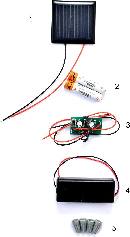 Green SunBender Do-it-Yourself Solar LED Jar Light Kit Pre-Wired ...