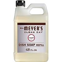 Mrs. Meyer's Clean Day Dishwashing Liquid Dish Soap Refill, Cruelty Free Formula, Lavender Scent, 48 oz