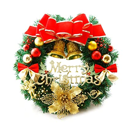 Amazon.com: Fellibay Christmas Wreath Door Wreath Pine Wreath ...
