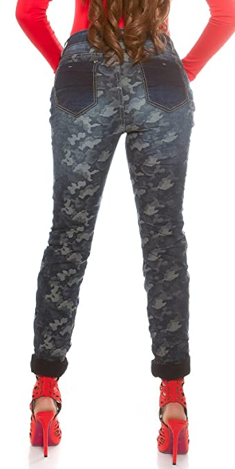 Sexy Curvy Women's Plus Size blue Camouflage Jeans. Approx. UK sizes 10-20:  Amazon.co.uk: Clothing