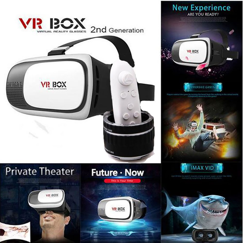 Original Rokea VR Box 2.0 With FREE Bluetooth Remote Controller - VR Box  with Remote - 3D VR Headset - Virtual Realty Glasses with Adjustable Lenses  ... f3ecfb0370