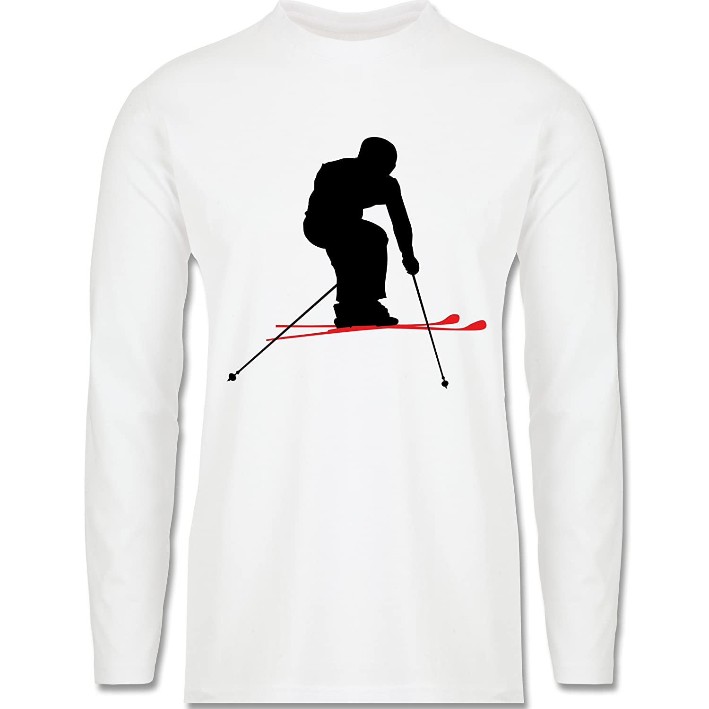 Wintersport - Skifahren Urlaub - Longsleeve / langärmeliges T-Shirt für Herren