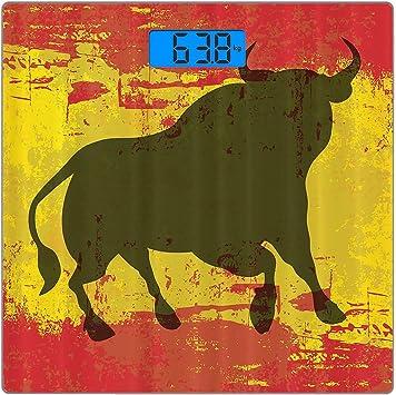 Báscula digital de precisión para peso, diseño de bull envejecido ...