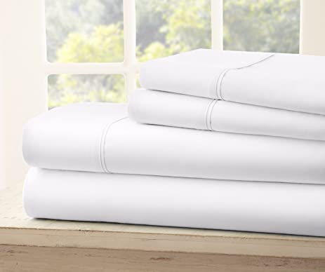 Queen Size Royal Collection 1900 Thread Count Bamboo Quality Bed Sheet Set  With 1 Fitted,