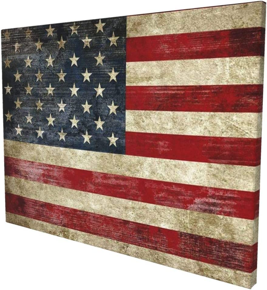 MSGUIDE Old Vintage American Max 78% OFF Flag Wall 5 ☆ very popular Modern Abstract Lan Decor