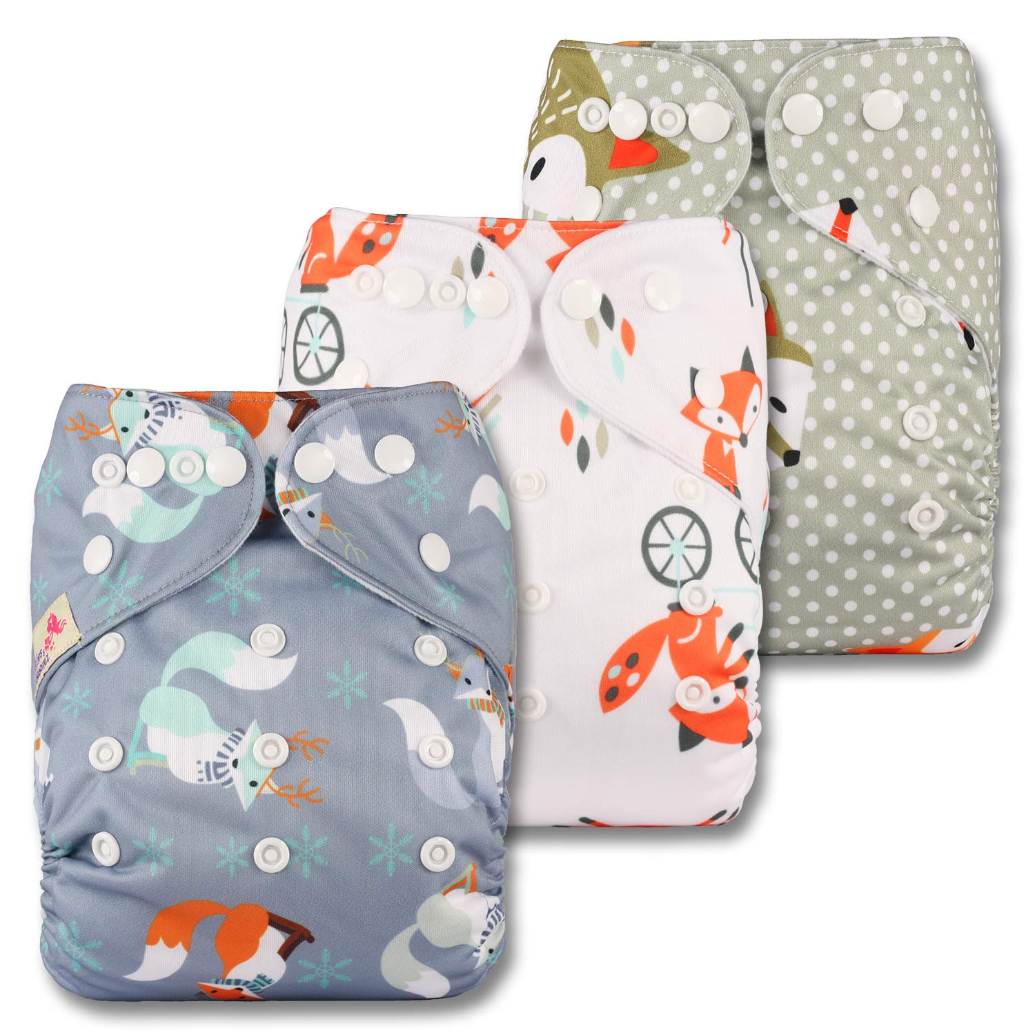 Patterns 1004 Fastener: Hook-Loop Littles /& Bloomz Set of 10 Reusable Pocket Cloth Nappy with 20 Microfibre Inserts