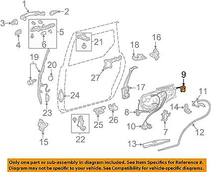 Toyota 69340-08031 - Conjunto de cerradura para puerta corredera: Amazon.es: Coche y moto