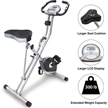 Exerpeutic Folding Magnetic Upright Bike with Pulse: Amazon.es ...