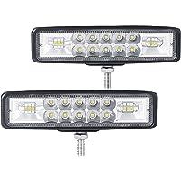 """MONDEVIEW 6"""" Faro LED para Moto, Luz LED de Trabajo, Tractor de 2 Filas 9-36V 120W 12000LM 6000K Foco Combinado…"""