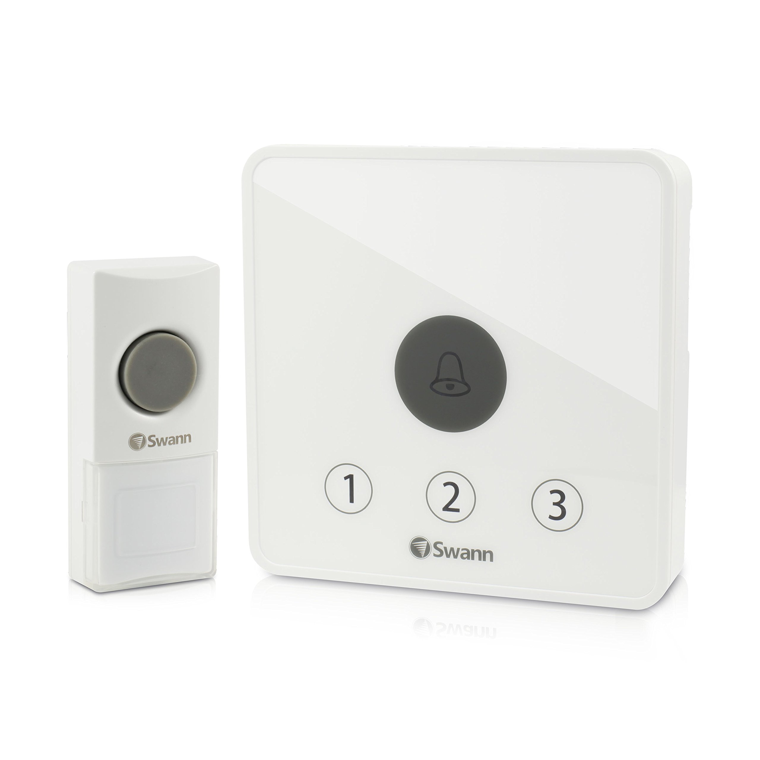 Swann Home Doorbell Kit alert Ring Detector, White (SWADS-DOORBK-GL)