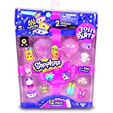 Shopkins - HPK82 - SK7 PARTY - Blister 12 pack - 12 Shopkins + 2 Lanternes  -Modèle Aléatoire