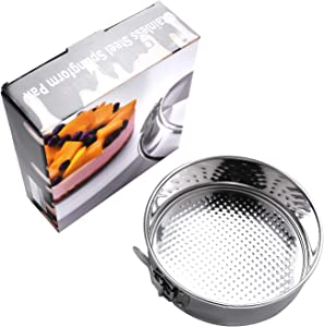 Yoku Made Stainless Steel Springform Pan 7 inch, 7 Inch Cake Pan, 7 Inch Springform Pan, Dishwasher Safe Cheesecake Pan Accessories for Instant Pot, Ninja Foodi and other Pressure Cooker of 5 6 qt