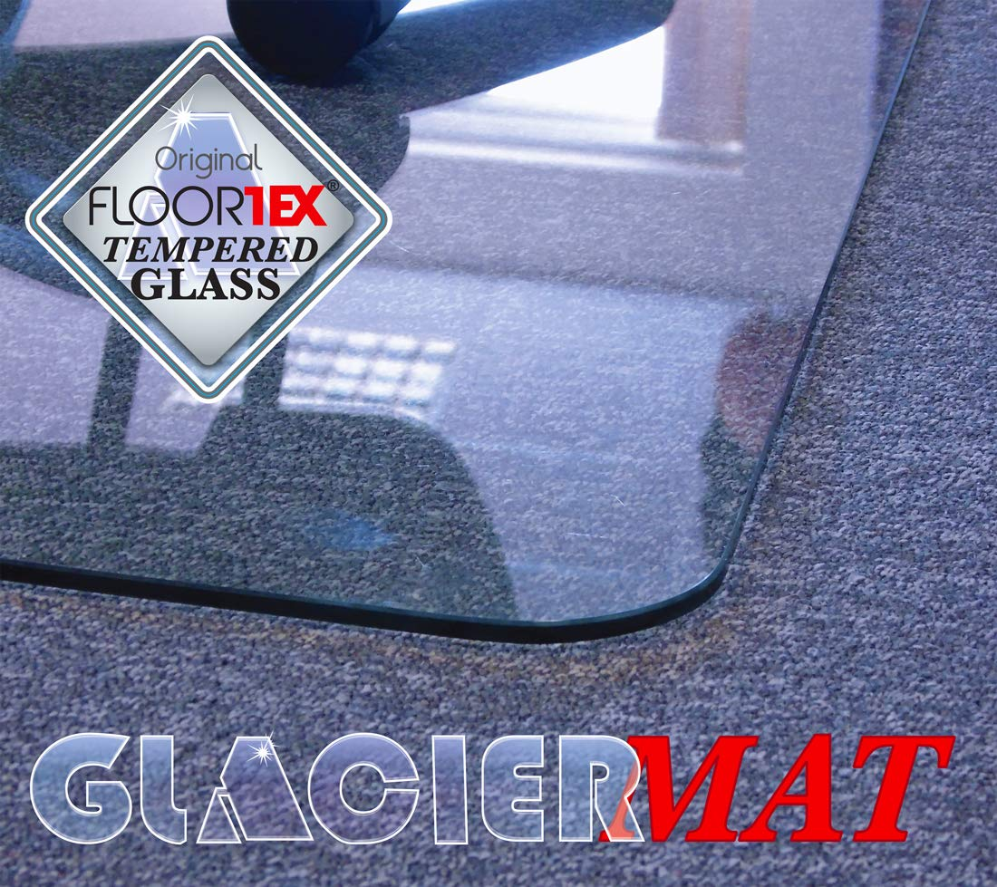Cleartex Glaciermat, Reinforced Glass Executive Chair Mat for Hard Floors/Carpets, 36'' x 48'' (FC123648EG) by Floortex (Image #3)