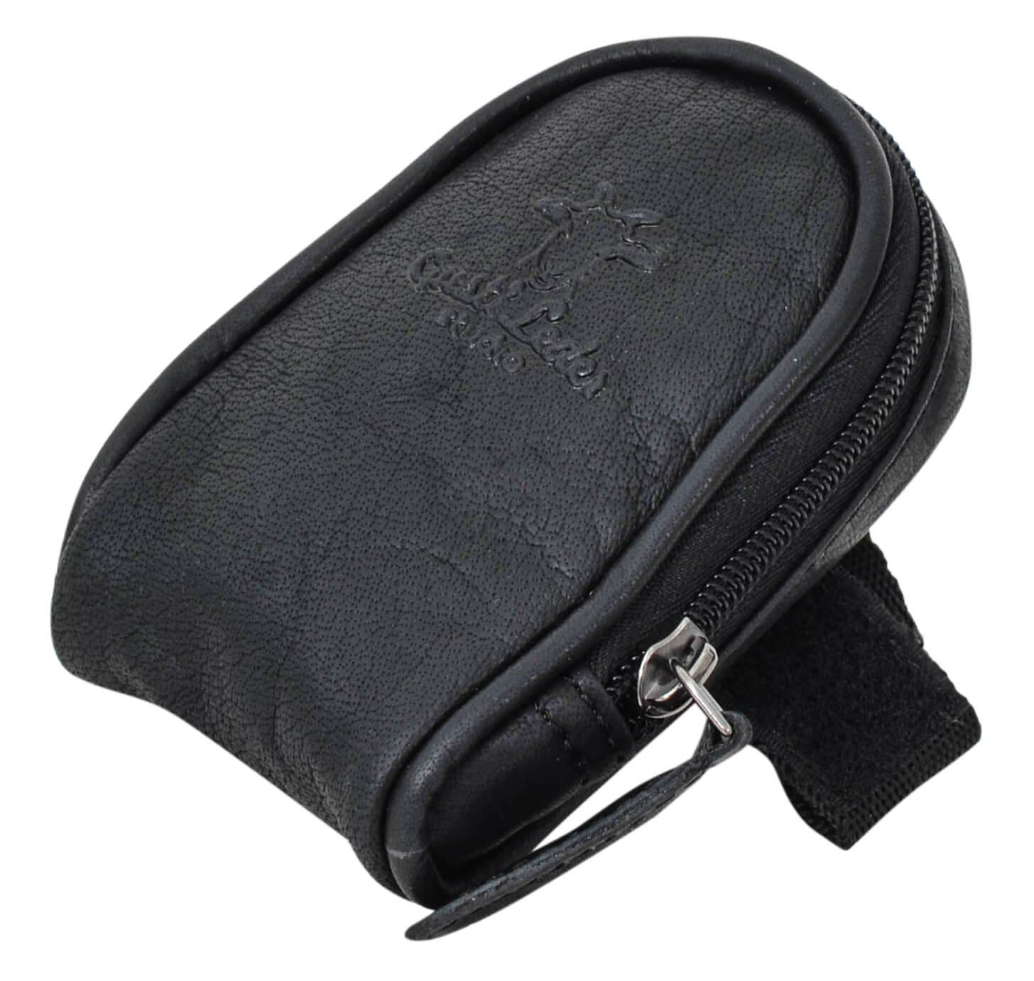 Sacoche de selle - Gusti Cuir studio 'Udo B.' accessoire cyclisme vintage pochette pour vé lo en cuir accessoire ré tro homme femme cuir de buffle noir 2G13-20-6wp Gusti Leder