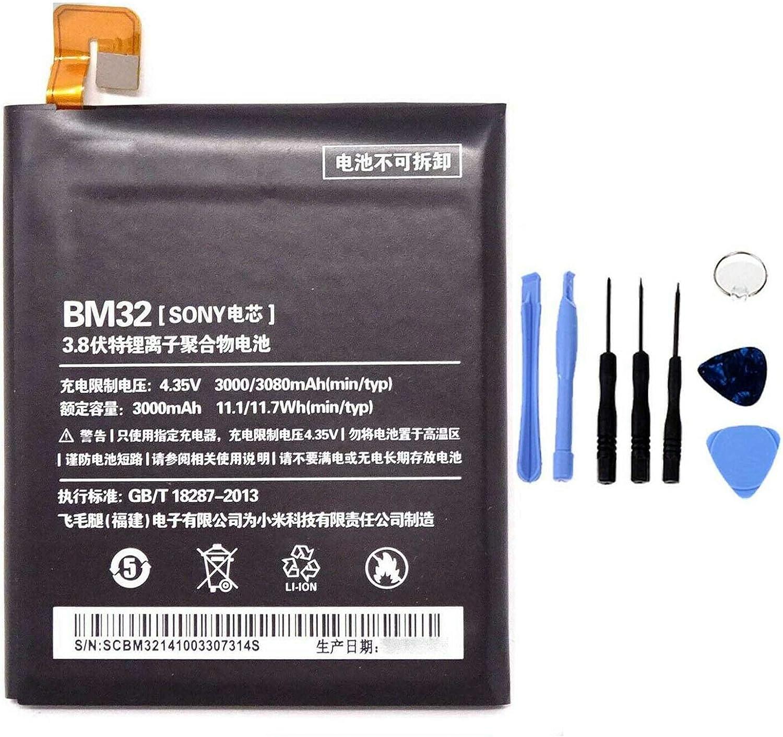 Ellenne Batería Compatible con Xiaomi Mi 4 MI4 BM32 Alta Capacidad 3000 mAh con Kit de desmontaje Incluido