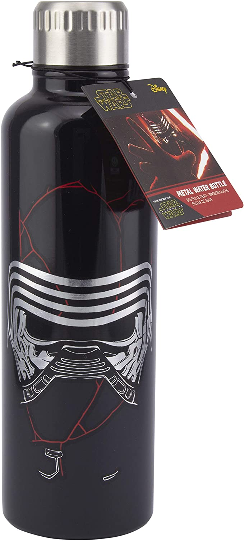 Paladone Botella de Agua metálica Star Wars, Negro, 22 x 7,6 cm