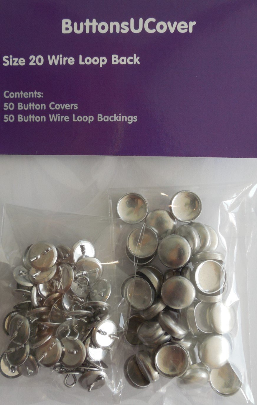 50 ButtonsUCover FLAT BACK Self Cover Buttons Size 20 Crafts Decor & More Inc.