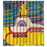 Cloud Dream Yellow Submarine Funny Art Decor Shower Curtain,Waterproof and Mildewproof Polyester Fabric Bath Curtain Design,6