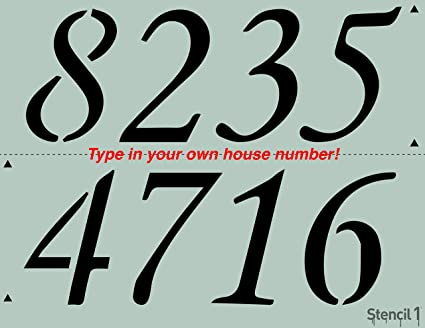 amazon com custom house numbers address numbers stencil 8 5 x11