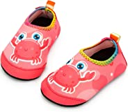 Apolter Baby Boys and Girls Swim Water Shoes Barefoot Aqua Socks Non-Slip for Beach Pool Toddler Kids