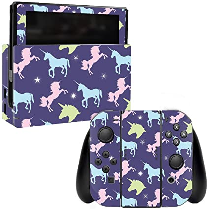MightySkins Skin for Nintendo Switch - Unicorn Dream | Protective, Durable,  and Unique Vinyl Decal wrap Cover | Easy to Apply, Remove, and Change