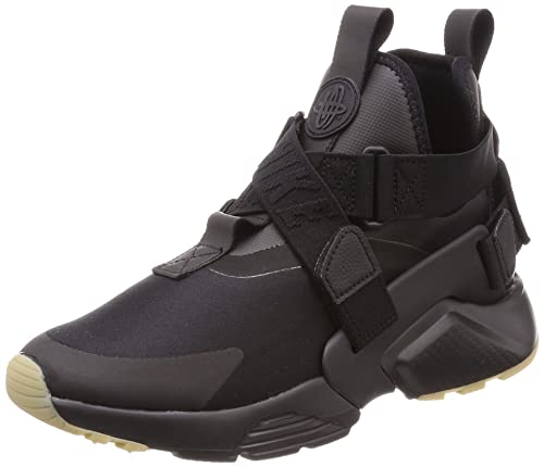 best authentic 4568c 95d8d Nike Women s s Air Huarache City Low-Top Sneakers, Black Dark Grey-Gum Light