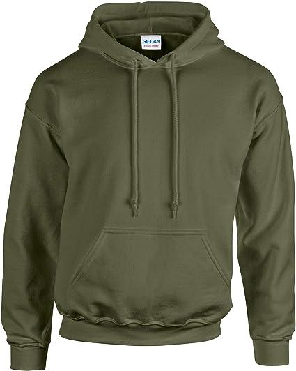 40854f1030461 Gildan Sweat-Shirt Capuche Heavy BlendTM: Amazon.fr: Vêtements et ...