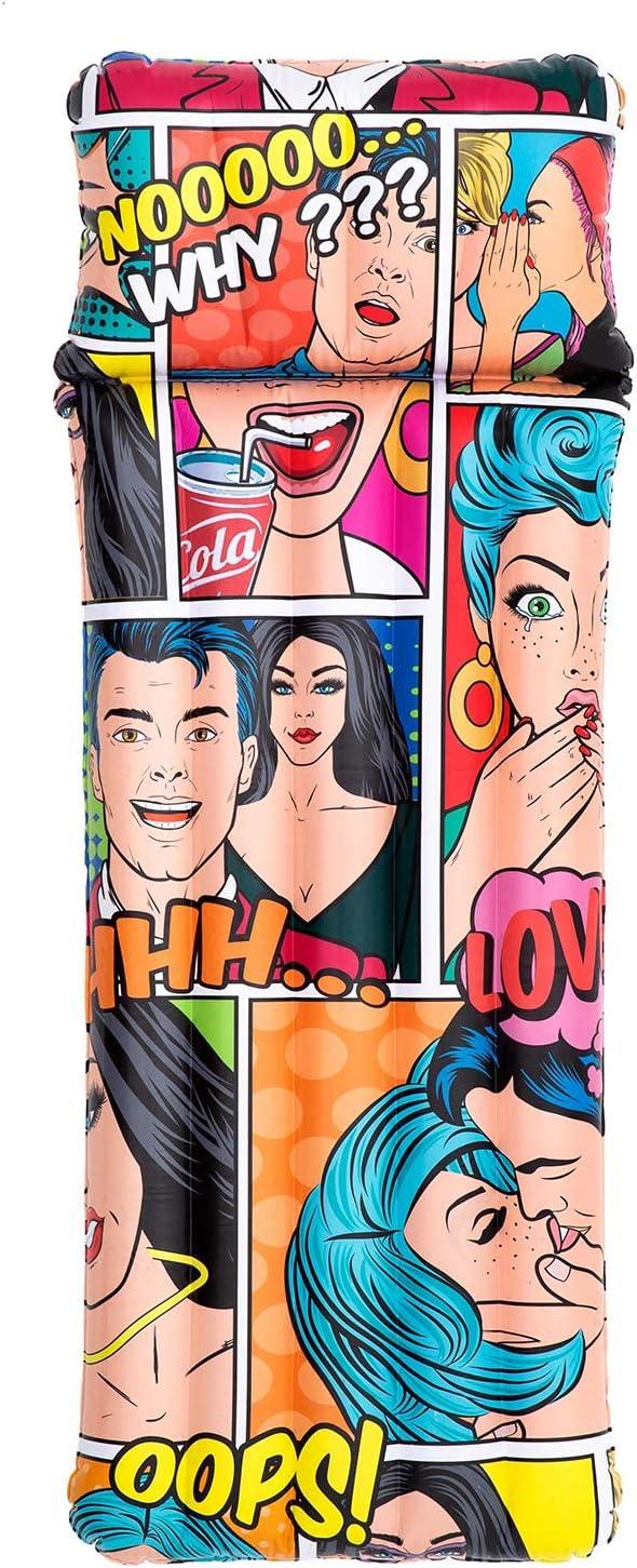 Bestway 44059 - Colchoneta Hinchable Pop Art Comic 183x71 cm