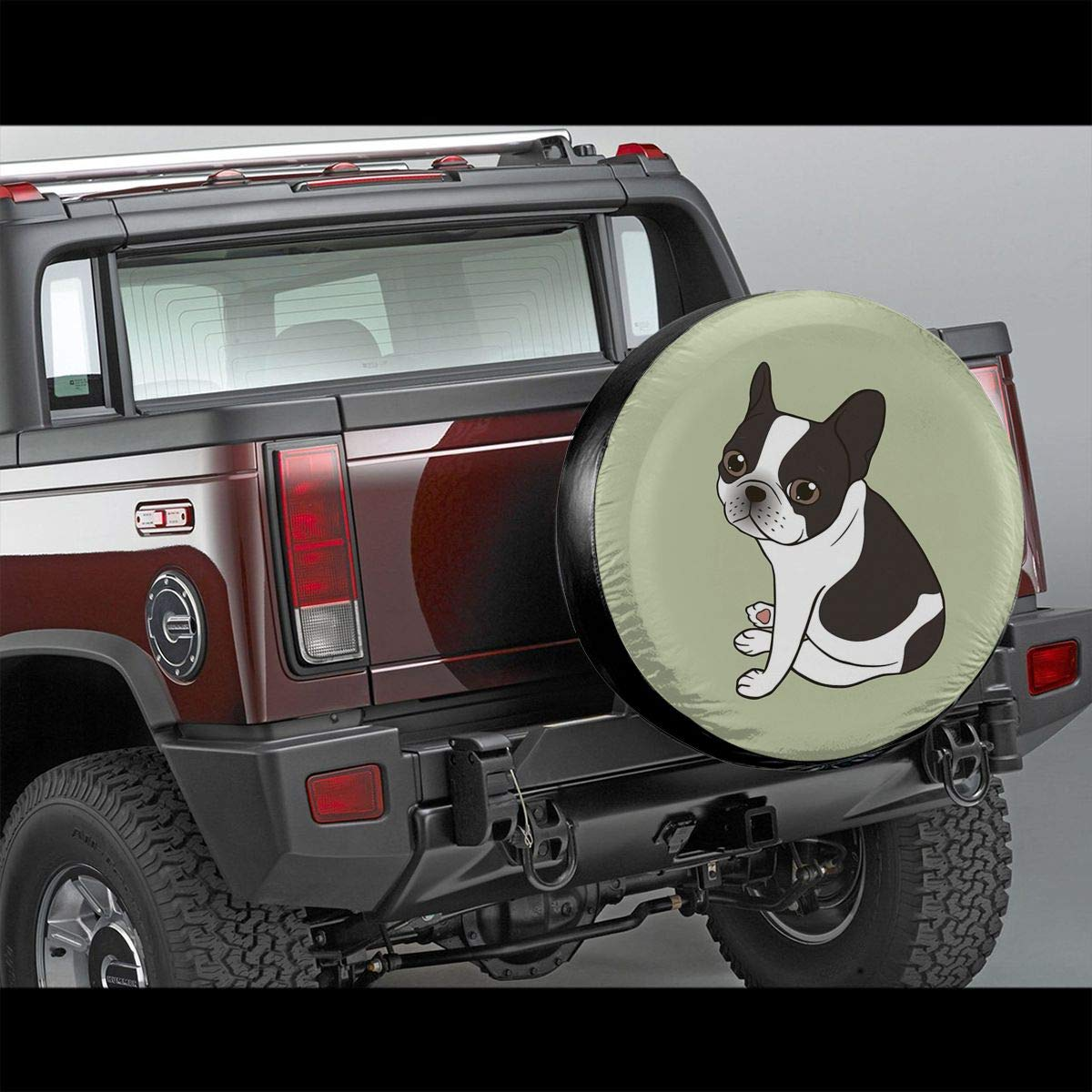 Wohnmobil Durchmesser 27,8-73,7 cm Jeep Anh/änger Say Hello To The Cute Double Pied French Bulldog Universal Reserveradabdeckung passend f/ür LKW Wohnmobil SUV Anh/änger Zubeh/ör 38,1 cm