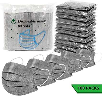 black disposable surgical mask